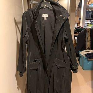 Joseph Ribkoff Black trench/rain coat, sz 16